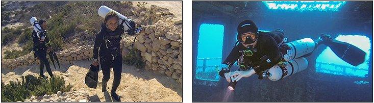 Jana Mazura - Sidemount Essentials & TDI Helitrox, Gozo (Aug 2013)