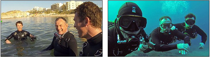 Paul Martin - My Father Learns to Sidemount Dive, Gozo (Sept 2013)