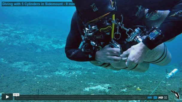 Diving with 5 Cylinders in Sidemount - 9 min