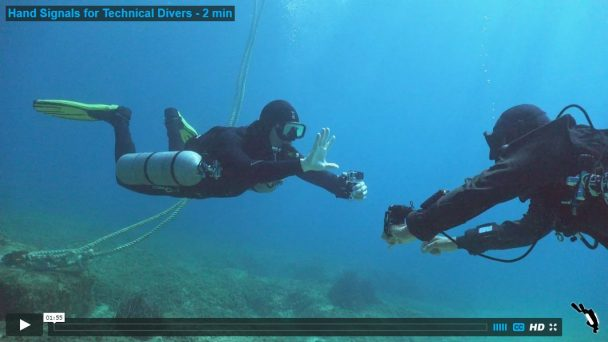 Hand Signals for Technical Divers - 2 min